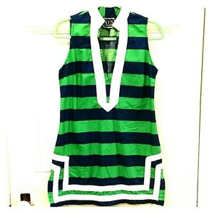 SAIL TO SABLE Striped sleeveless dress